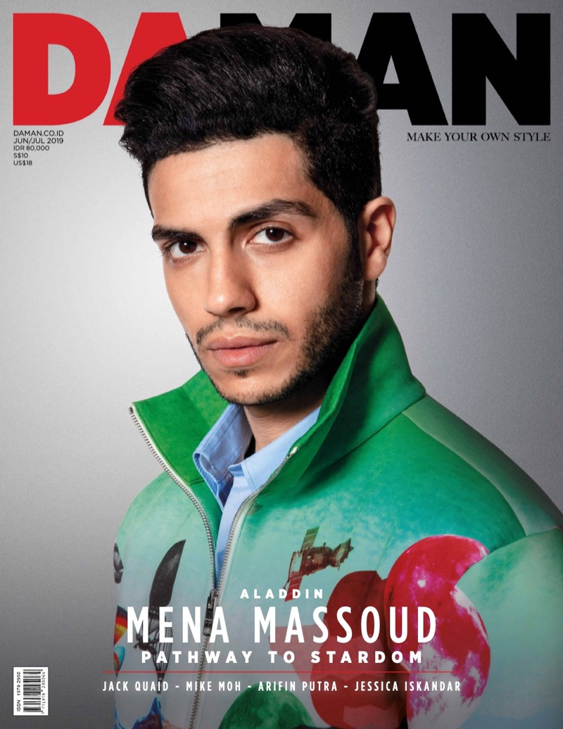Mena Massoud covers the June/July 2019 issue of Da Man.