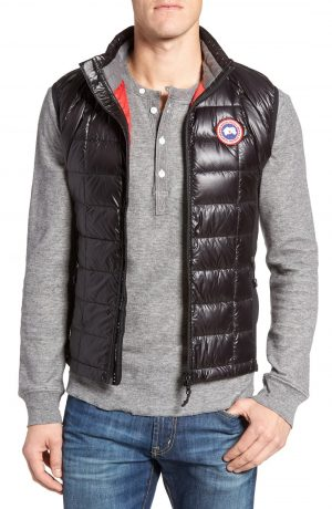 Men's Canada Goose 'Hybridge(TM) Lite' Slim Fit Packable Quilted 800-Fill Down Vest, Size X-Large - Black