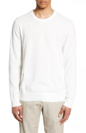 Men's Club Monaco Slim Fit Boucle Sweater, Size Medium - Beige