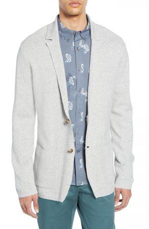 Men's Club Monaco Trim Fit Sweater Blazer, Size Small - Grey