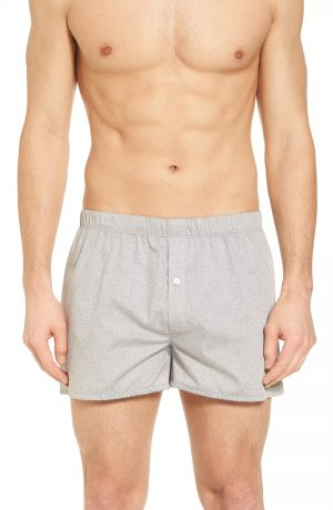Men's Hanro Fancy Cotton Boxers, Size X-Large - Grey