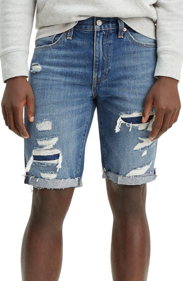 Men's Levi's 511(TM) Cutoff Denim Shorts, Size 30 - Blue
