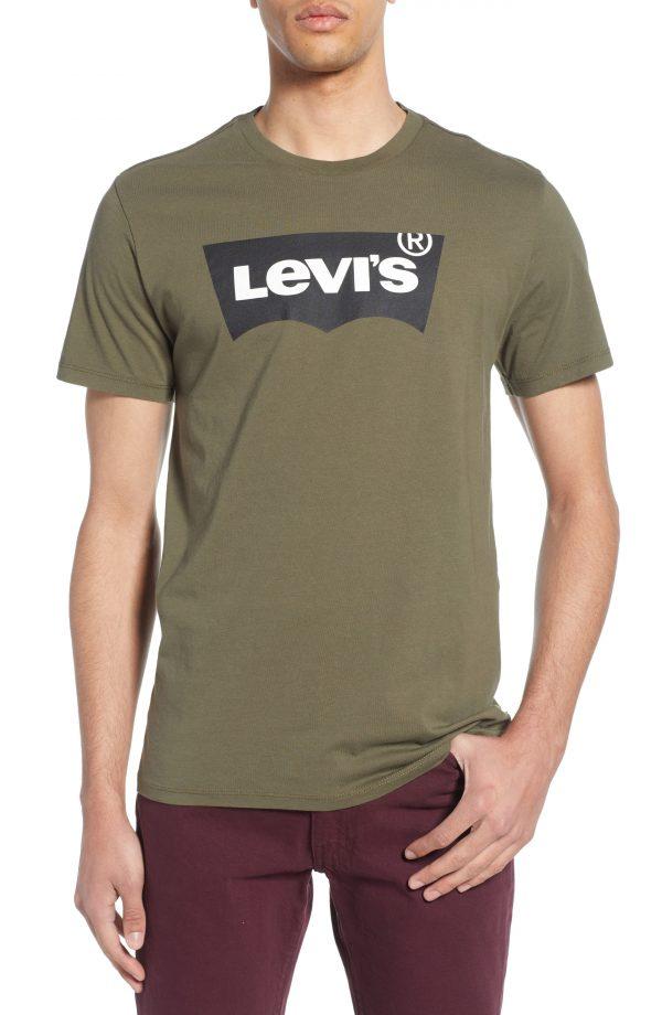 Men's Levi's Classic Logo T-Shirt, Size Large - Green