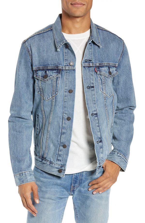 Men's Levi's Denim Trucker Jacket, Size Medium - Blue