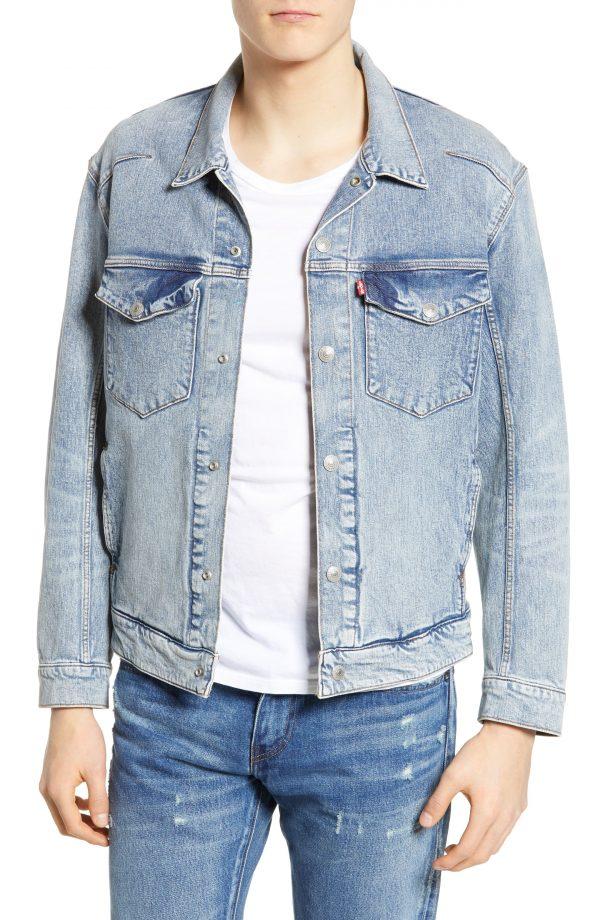 Men's Levi's Engineered Jeans(TM) Trucker Jacket, Size Medium - Blue