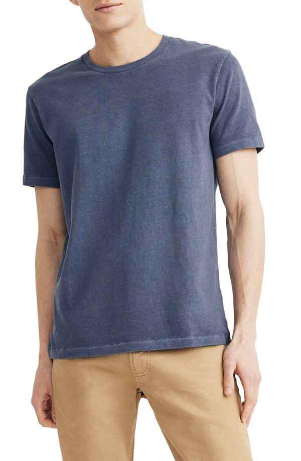 Men's Madewell Allday Slim Fit Garment Dyed T-Shirt, Size XX-Large - Blue