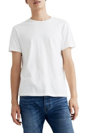 Men's Madewell Allday Slim Fit Garment Dyed T-Shirt, Size XX-Large - White