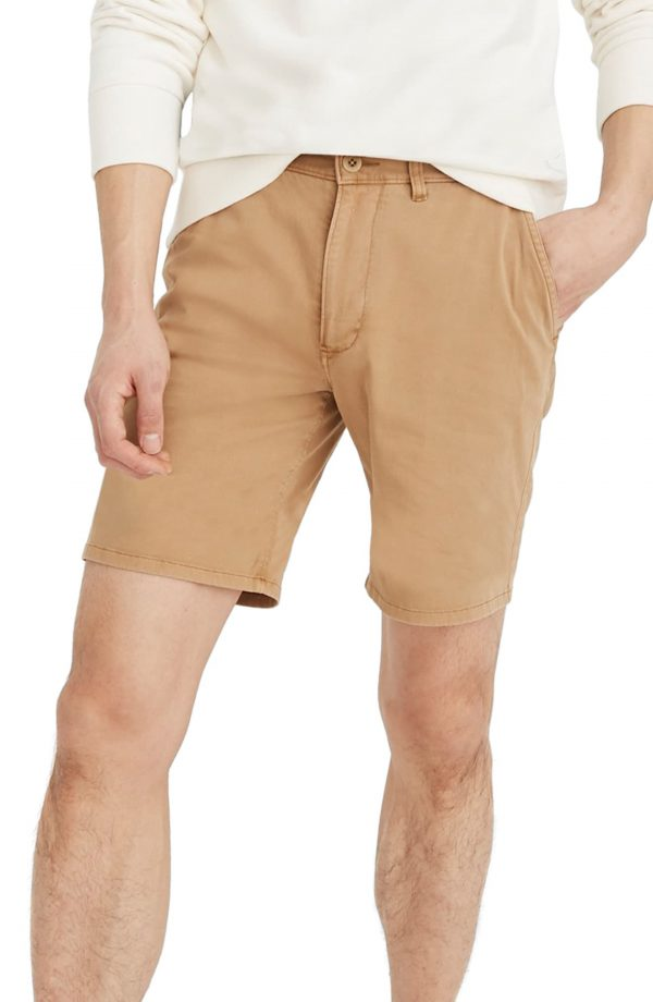Men's Madewell Chino Shorts, Size 28 - Blue