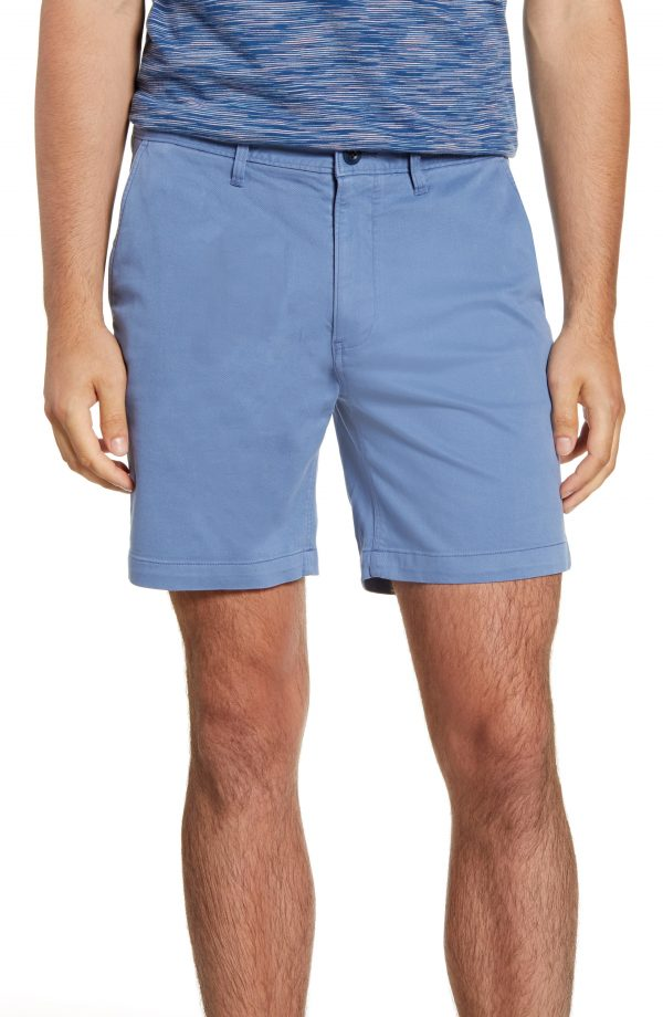 Men's Madewell Chino Shorts, Size 30 - Blue