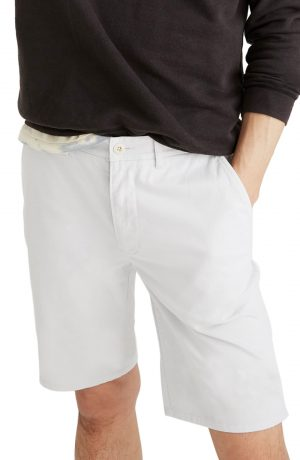 Men's Madewell Chino Shorts, Size 38 - Blue