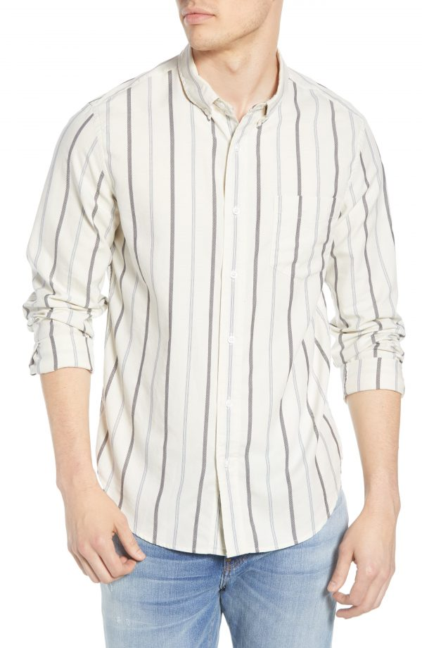 Men's Madewell Montpellier Stripe Button-Down Work Shirt