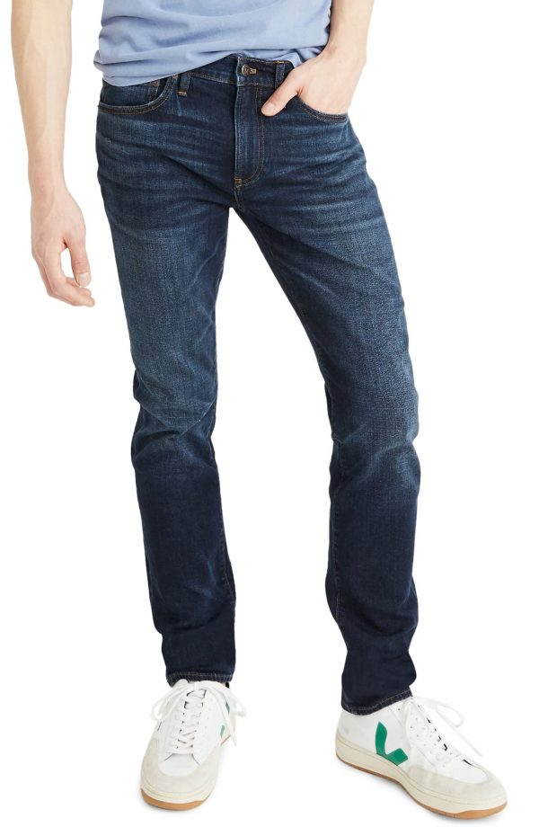 Men's Madewell Slim Fit Jeans, Size 30 x 34 - Blue