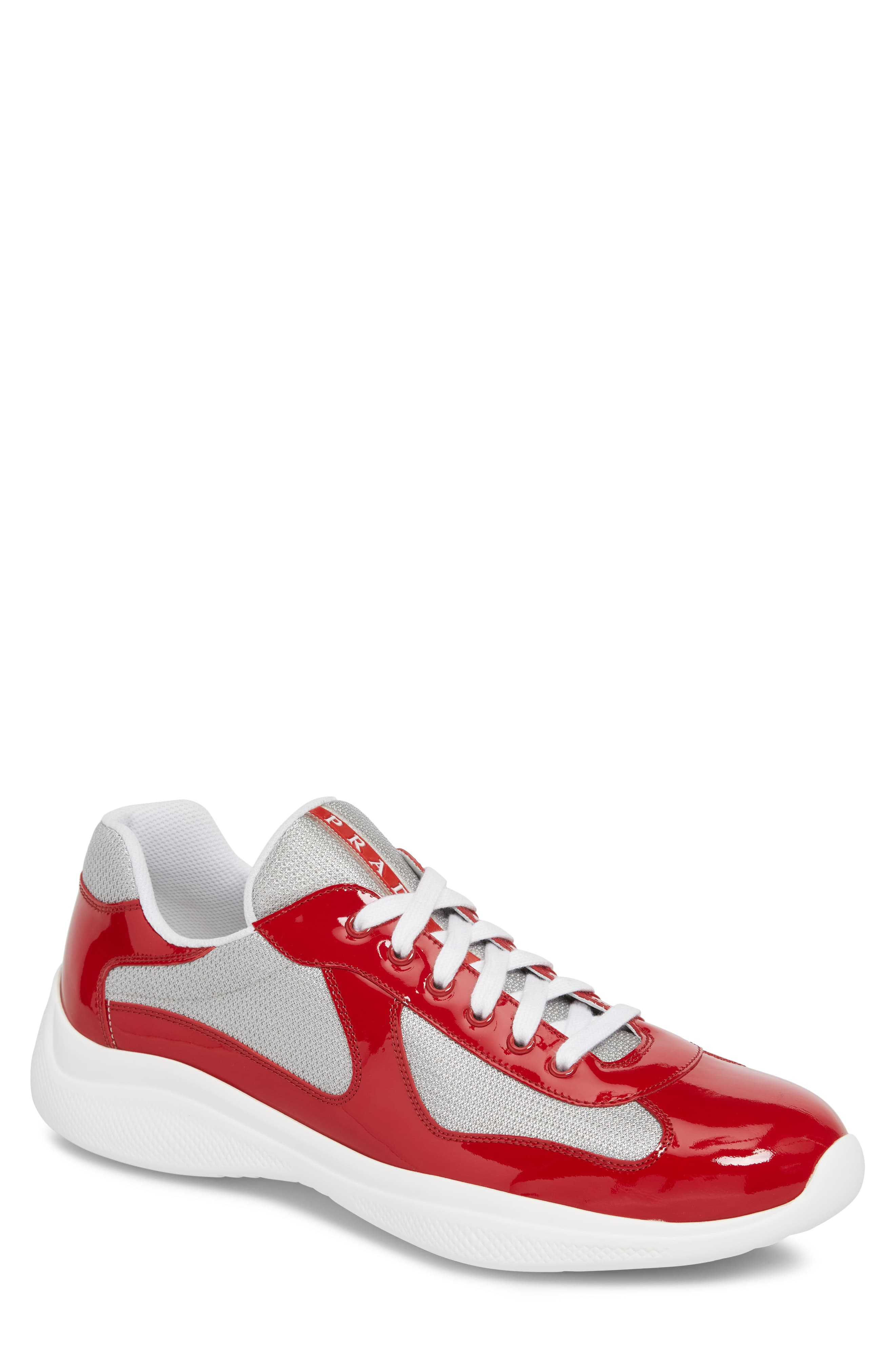new style 88a9a 7ccc3 Men's Prada Americas Cup Sneaker, Size 8US / 7UK - Red