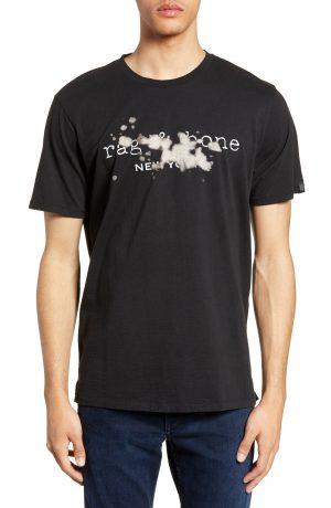 Men's Rag & Bone Bleach T-Shirt, Size Large - Black