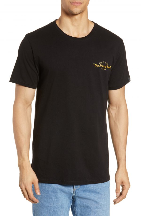 Men's Rag & Bone The Very Best Embroidered Slim Fit T-Shirt, Size Large - Black