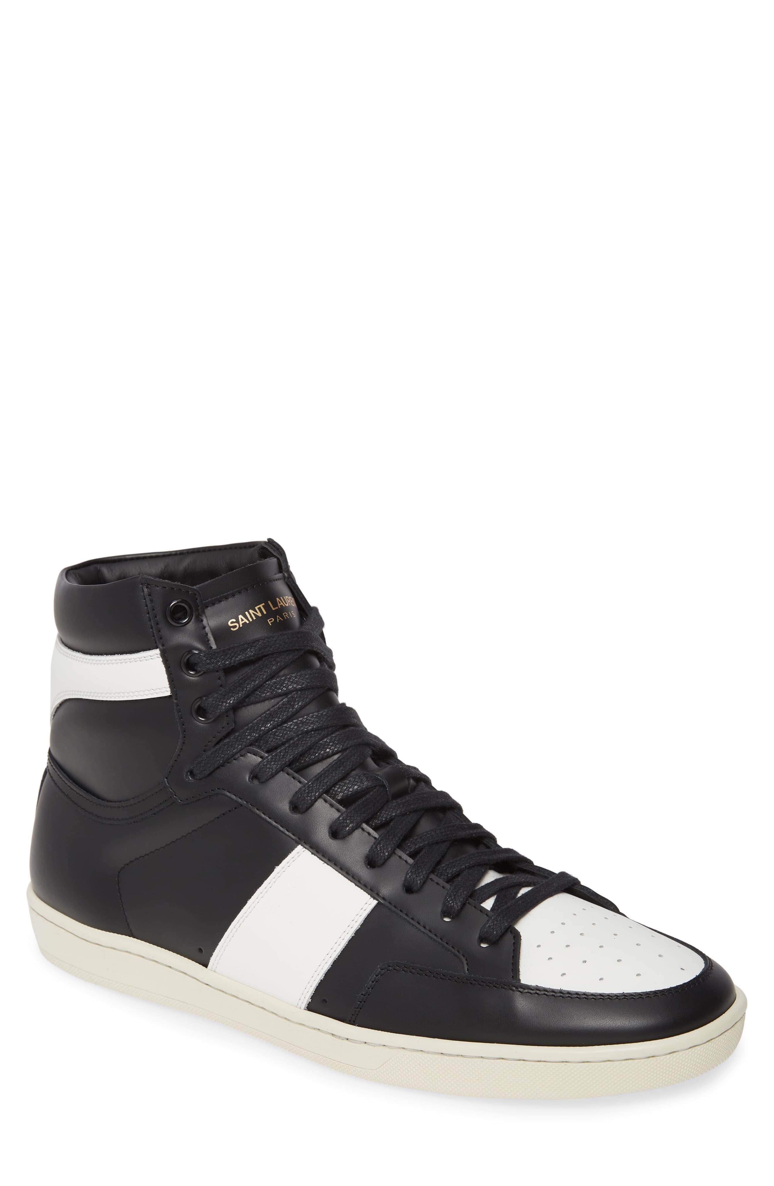 0362841ca5b Men's Saint Laurent Sl/10H Signature Court Classic High-Top Sneaker, Size  7US / 40EU – White