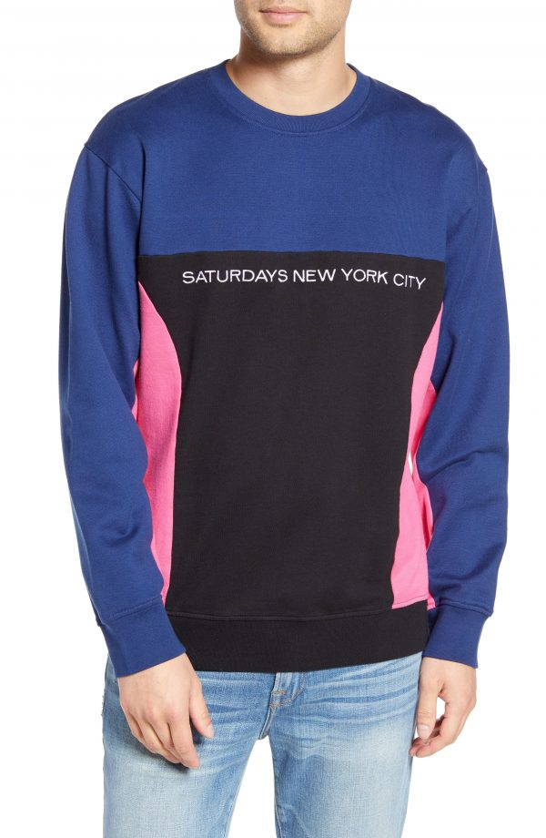 Men's Saturdays Nyc Bondi Graphic T-Shirt, Size Small - Blue