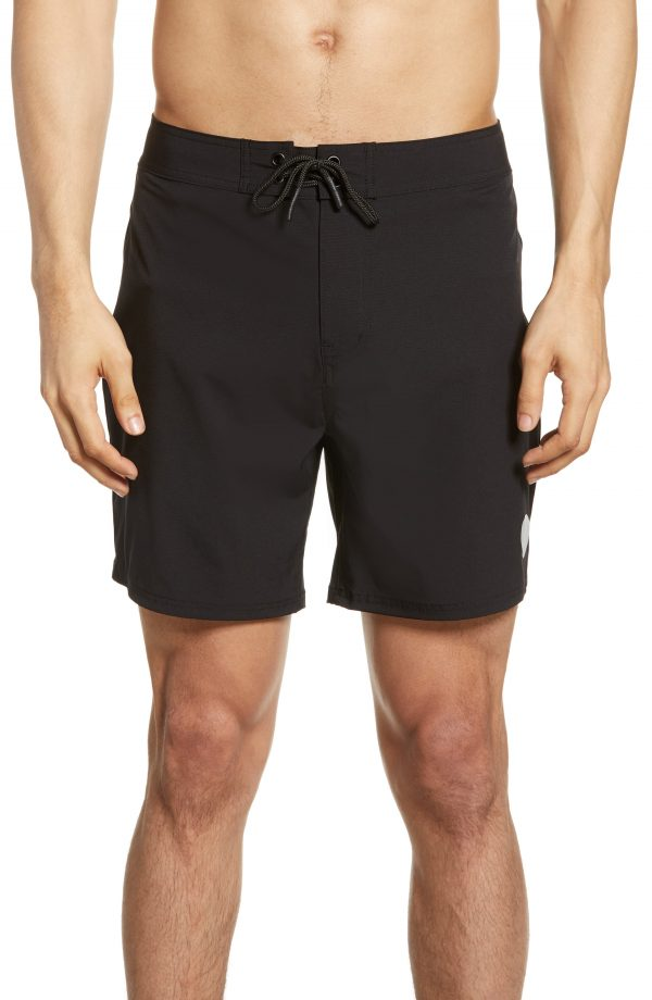 Men's Saturdays Nyc Danny Swim Trunks, Size 30 - Black