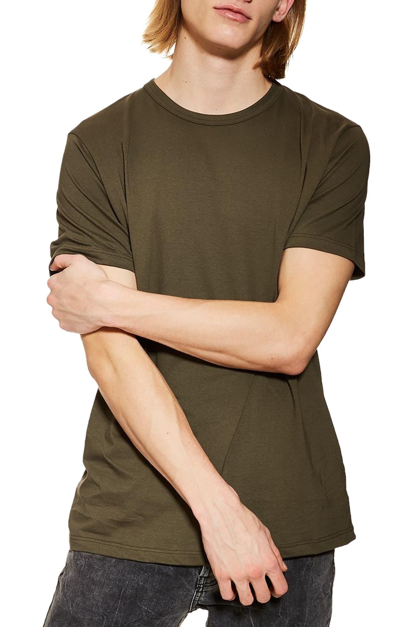ea157cf8b2c02 Men's Topman 3-Pack Classic Fit Crewneck T-Shirts, Size Large – Green