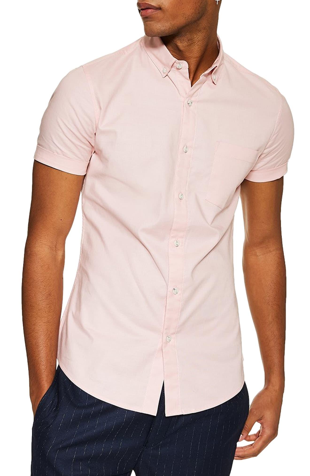 c3fecdefe Men's Topman Muscle Fit Oxford Shirt, Size Medium – Pink   The ...