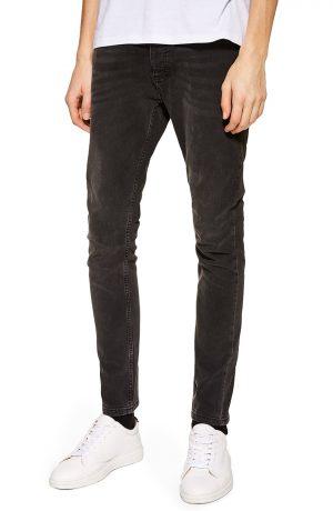 Men's Topman Stretch Skinny Fit Jeans, Size 36 x 32 - Black
