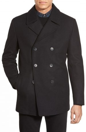 Men's Vince Camuto Classic Peacoat, Size Small - Black