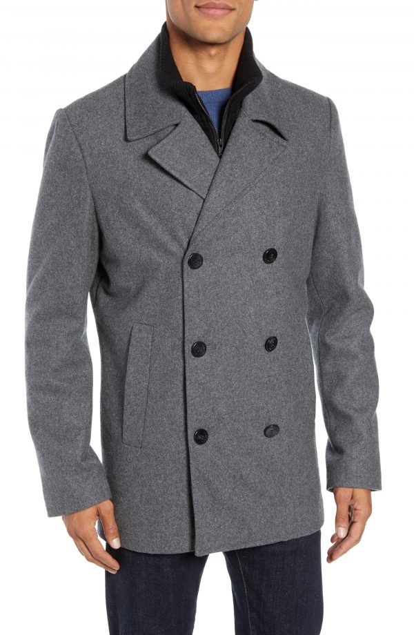 Men's Vince Camuto Dock Peacoat, Size XX-Large - Grey