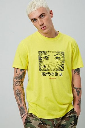 Modern Life Graphic Tee at Forever 21 Yellow/black