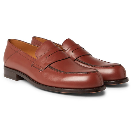 Mr P. - Dennis Collapsible-Heel Leather Loafers - Men - Brown