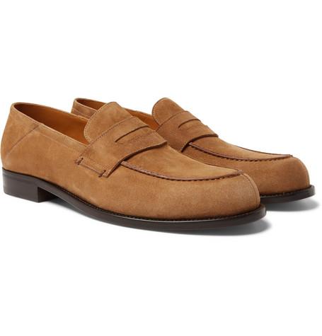 Mr P. - Dennis Collapsible-Heel Suede Loafers - Men - Brown