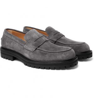 Mr P. - Jacques Suede Loafers - Men - Gray