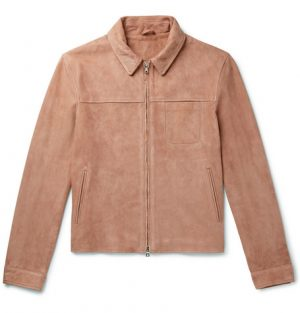 Mr P. - Slim-Fit Suede Blouson Jacket - Men - Pink