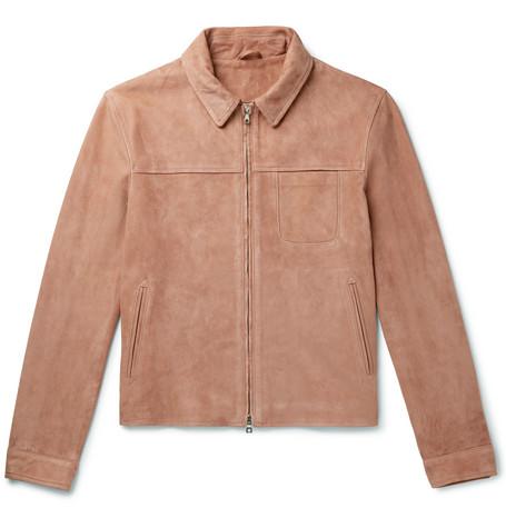 Mr P. - Slim-Fit Suede Blouson Jacket - Men - Pink