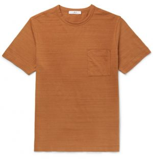 Mr P. - Slub Cotton-Jersey T-Shirt - Men - Brown
