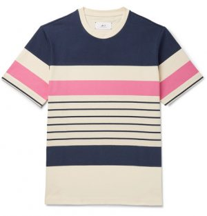 Mr P. - Striped Cotton-Jersey T-Shirt - Men - Multi