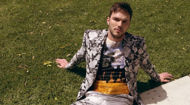Actor Nicholas Hoult wears a look by Louis Vuitton.