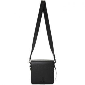 Off-White Black Binder Clip Bag