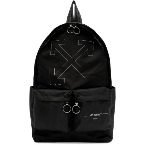 Off-White Black Unfinished Arrows Backpack