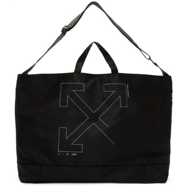 Off-White Black Unfinished Arrows Tote