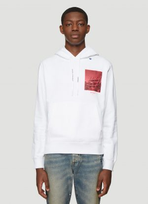 Off-White Halftone Arrow Hooded Sweatshirt in White size XL