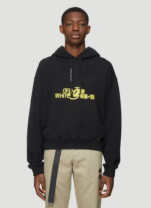 Off-White Halftone Hooded Sweatshirt in Black size M