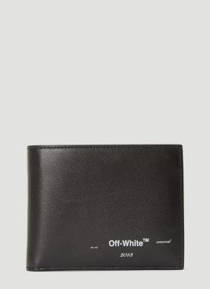 Off-White Logo Bi-Fold Wallet in Black size One Size
