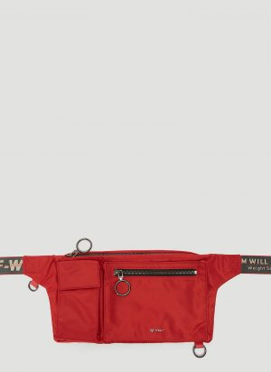 Off-White Multi Pocket Belt Bag in Red size One Size
