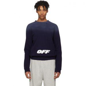 Off-White Navy Wing Off Sweatshirt