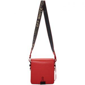 Off-White Red Binder Clip Bag