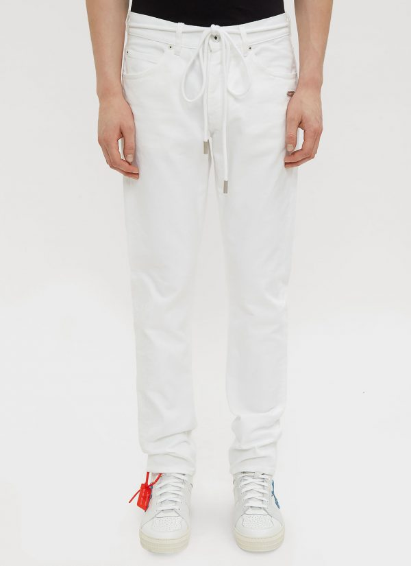 Off-White Slim Fit Back Dart Jeans in White size 28