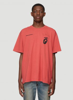 Off-White Splitted Arrows Short Sleeve T-Shirt in Red size XXL