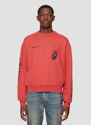 Off-White Splitted Arrows Sweatshirt in Red size XL