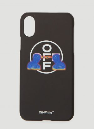 Off-White Thermo Man iPhone X Case in Black size One Size