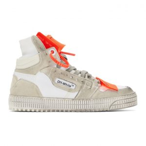 Off-White White and Orange Off-Court 3.0 Sneakers